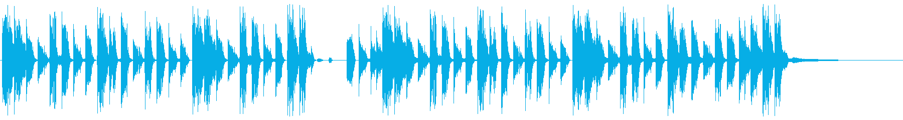 渋い印象のシンキングタイム04の再生済みの波形