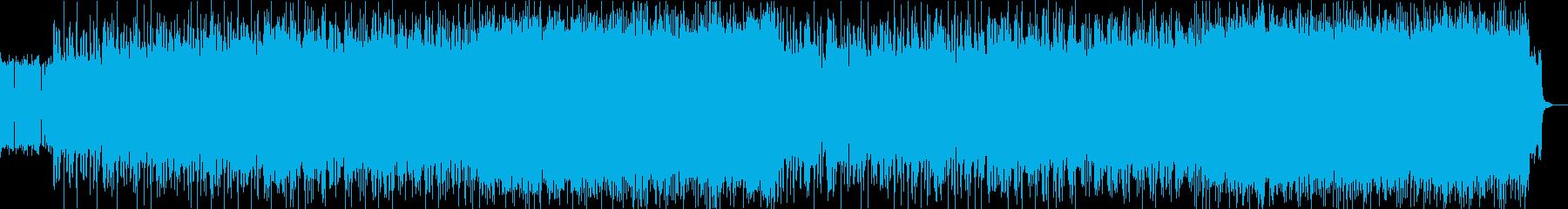 ディープパープル風のハードロックの再生済みの波形