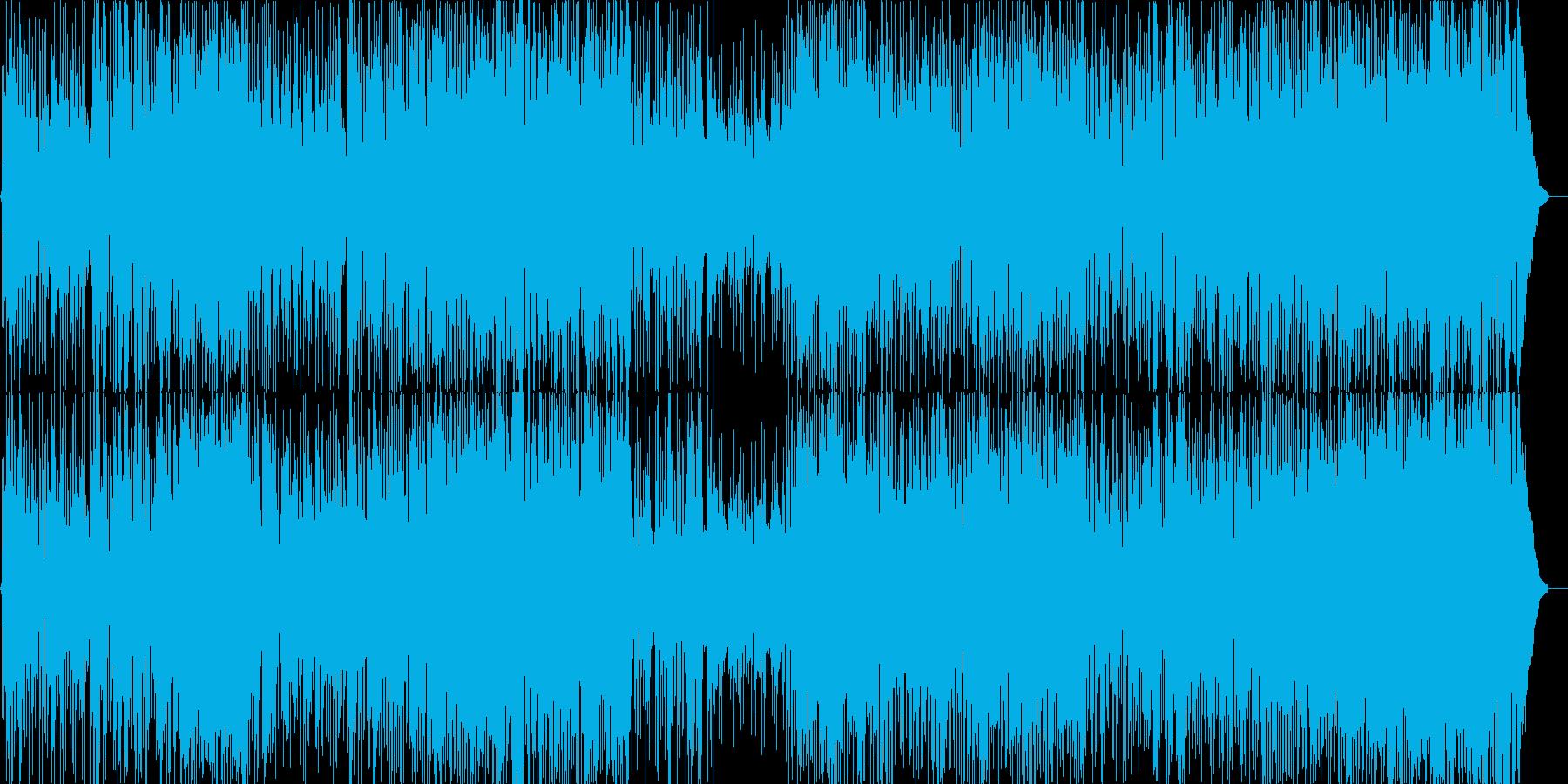 ポップよりのジャズフュージョンの再生済みの波形
