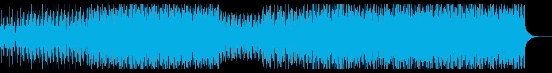 ナレーションに合う明るいピアノハウスの再生済みの波形