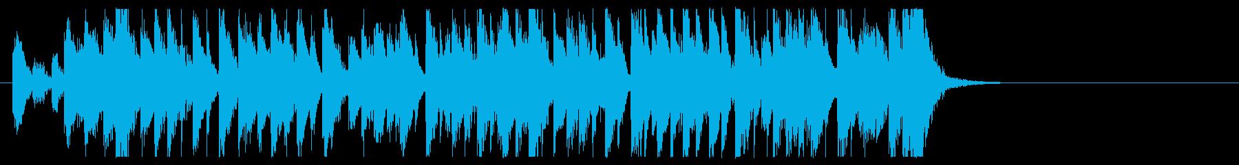 三味線と太鼓のアンサンブル3BPM120の再生済みの波形