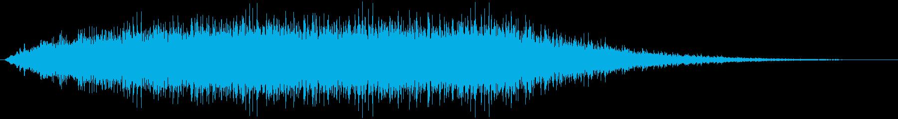 パチパチと拍手が鳴る音ですの再生済みの波形