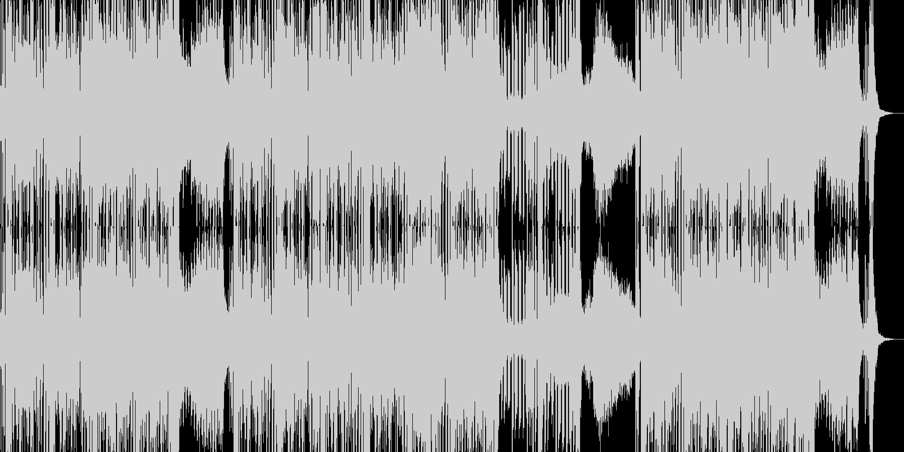 邪悪なオーケストラ風ミュージックの未再生の波形