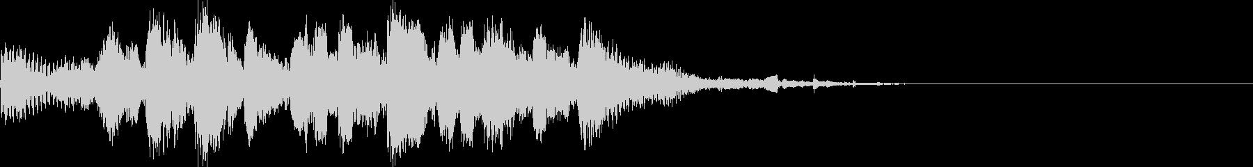 生演奏リコーダーでさえずるようなジングルの未再生の波形