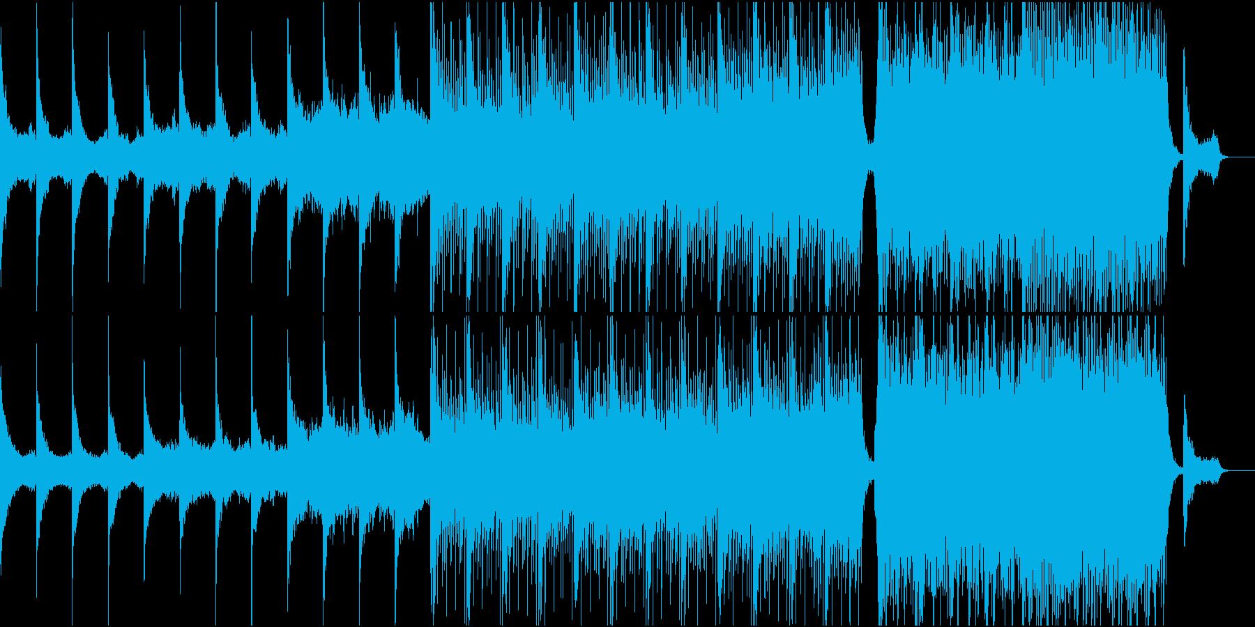 オーケストラ曲アンビエント→ポジティブの再生済みの波形