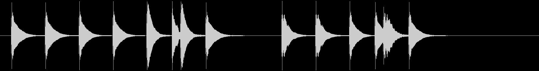 ほのぼのとしたシンプルな木琴のジングルの未再生の波形