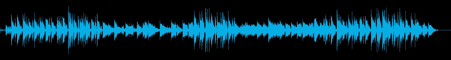 夏のリゾートイメージのジャジーなワルツの再生済みの波形