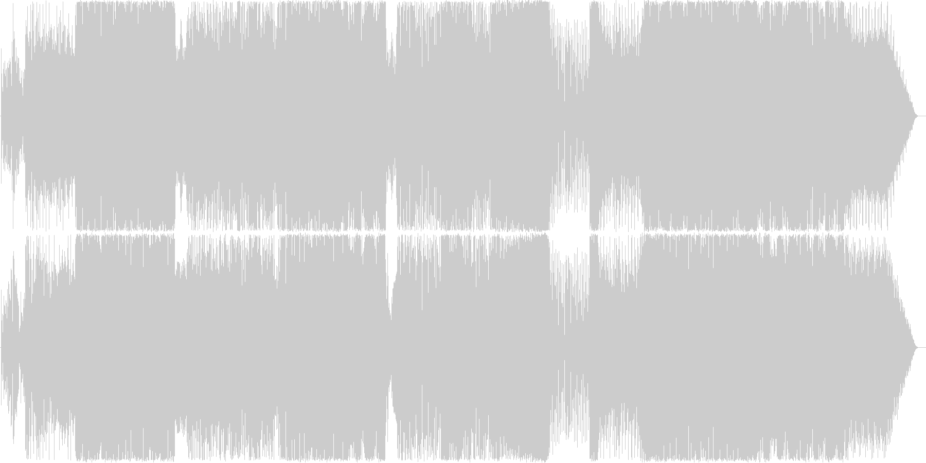キラキラしたイメージのテクノポップロックの未再生の波形