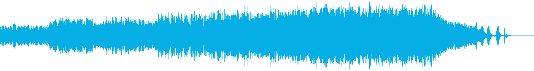幻想的で感動的なシーンの曲の再生済みの波形