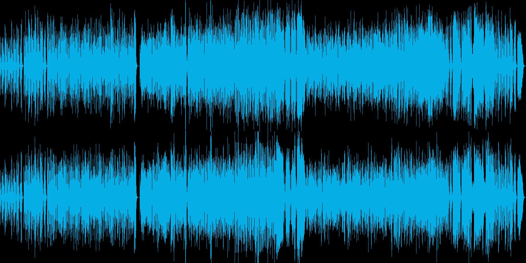 明るく軽い行進曲の再生済みの波形