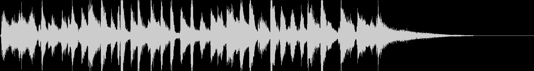 陽気なピアノレトロジャズバンドジングルの未再生の波形