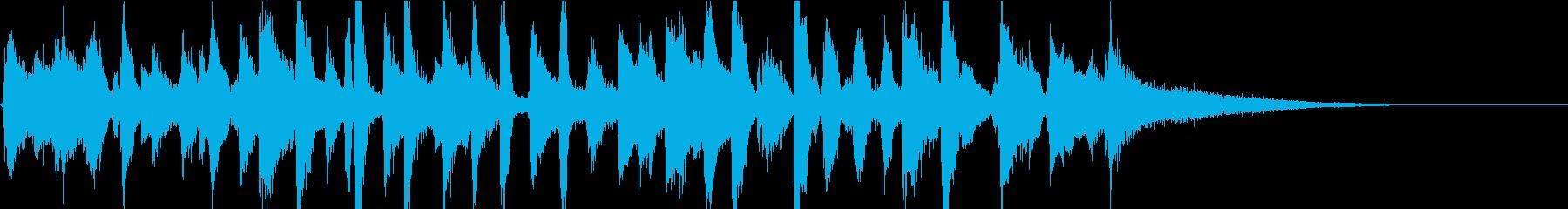 陽気なピアノレトロジャズバンドジングルの再生済みの波形