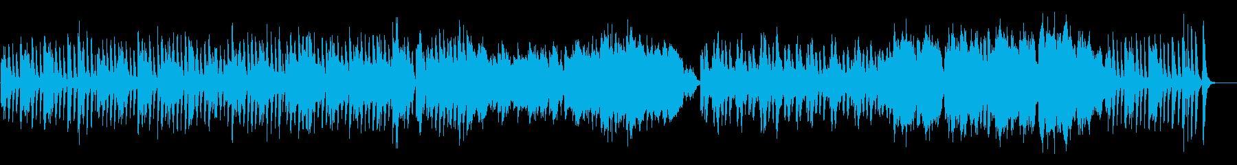 可愛らしく弾むような雰囲気のBGMの再生済みの波形