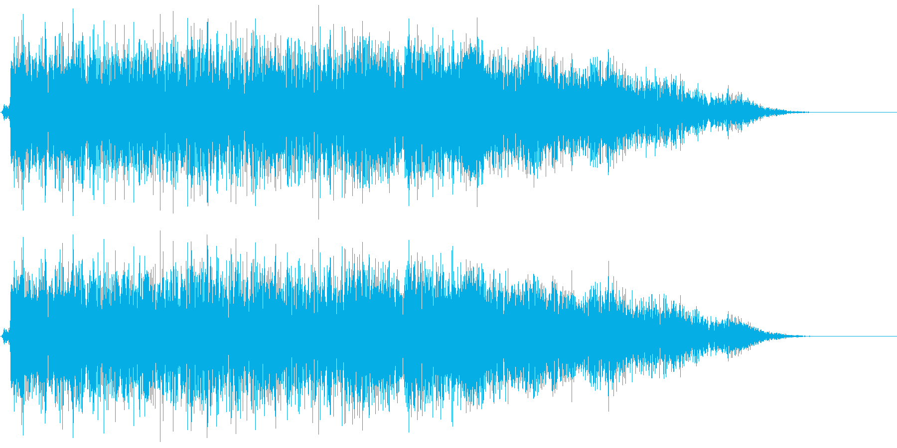 昔の特撮で敵がビーム出してきたような音の再生済みの波形