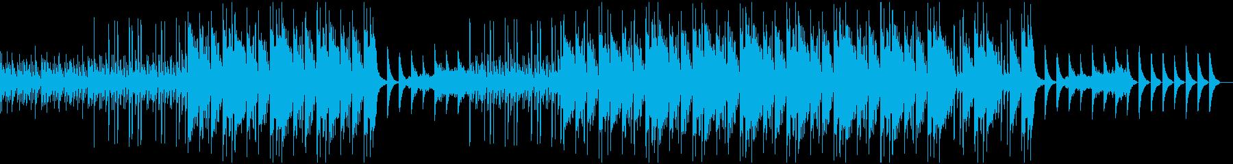 幻想的な雰囲気のインスト曲の再生済みの波形
