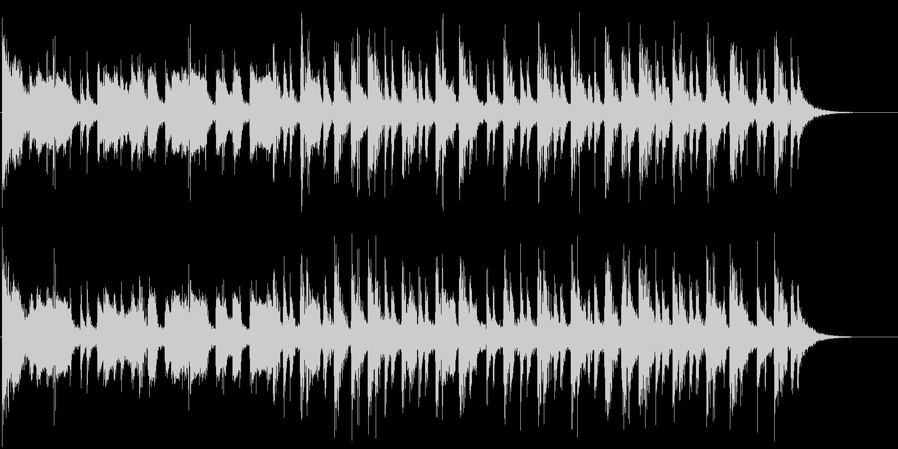 太鼓と笛と三味線による祭り囃子風な曲の未再生の波形
