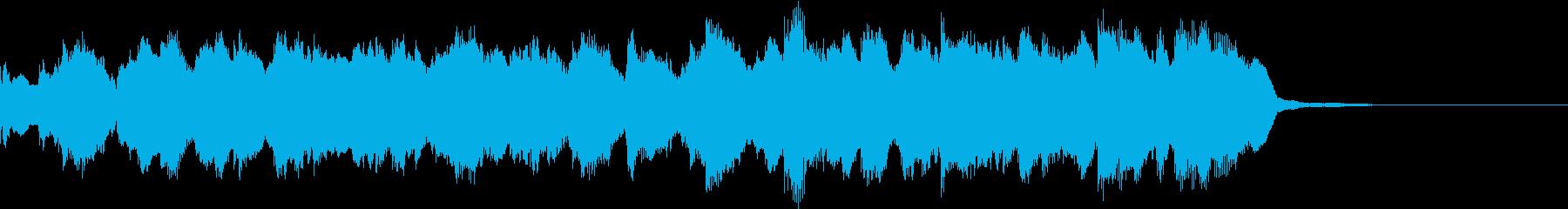 CMに最適、優しい系BGMの再生済みの波形