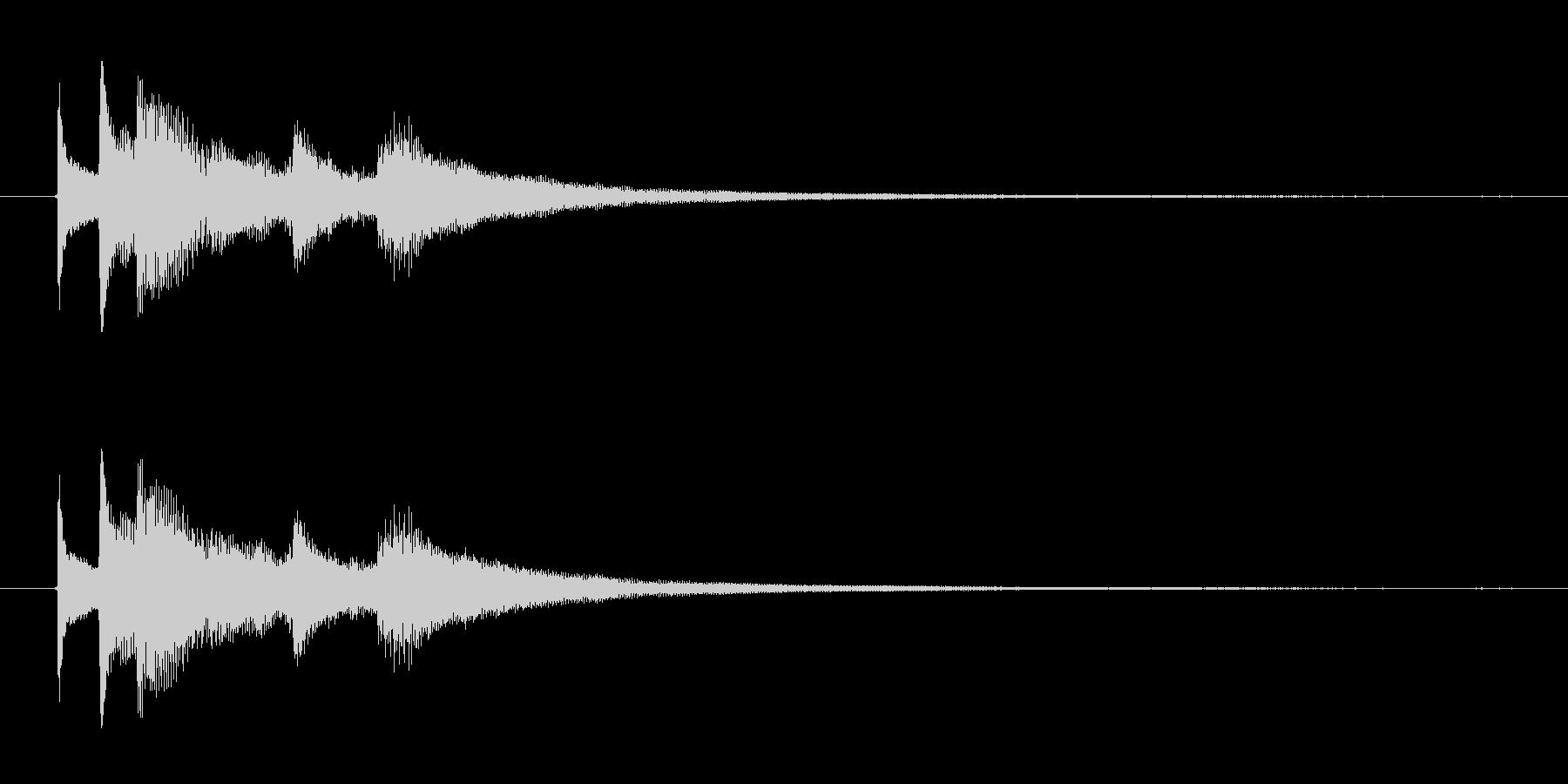 ジングル用 アコギ 水平線に沈みゆく太陽の未再生の波形