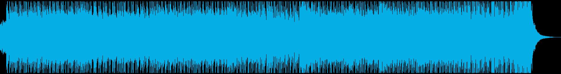 三味線とギターのアグレッシブな和風ロックの再生済みの波形