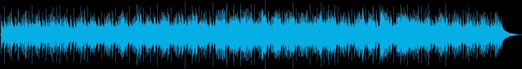 暗く荒んだイメージのアンビエント曲の再生済みの波形