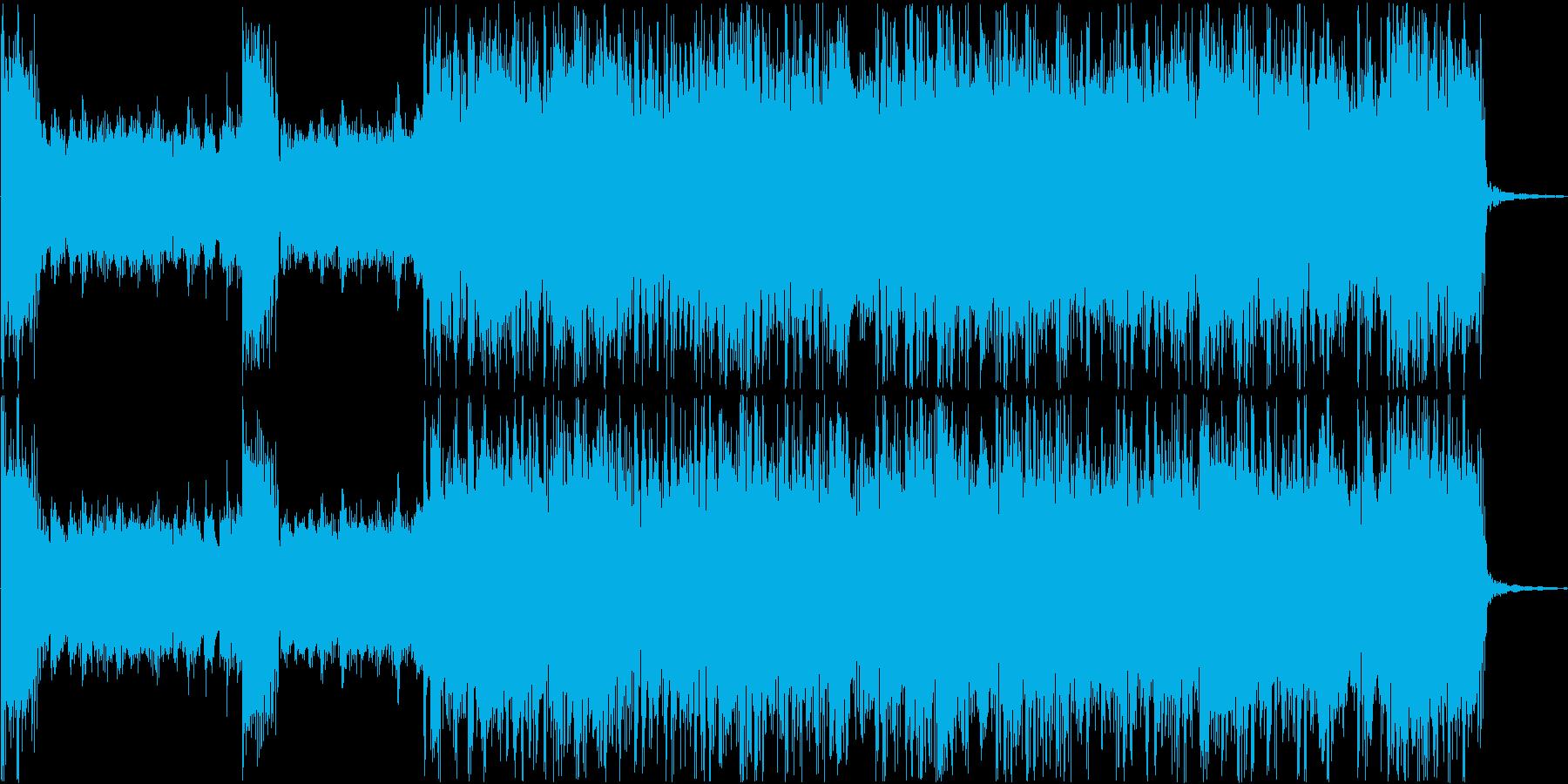 重く激しいラウドロック#02の再生済みの波形