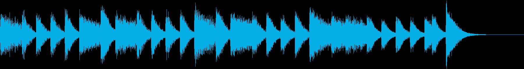 ラテンリズムが踊る真夏のピアノジングルの再生済みの波形