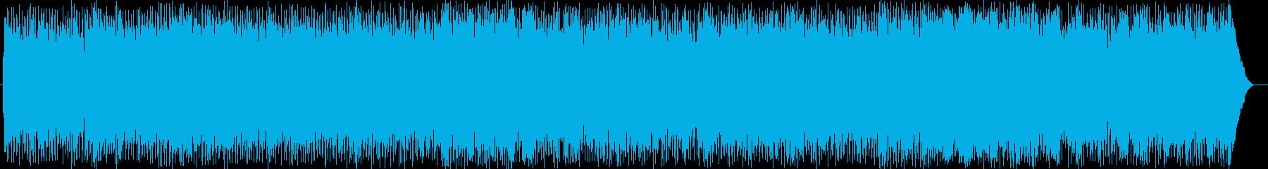 エキサイティングなギターフュージョンの再生済みの波形