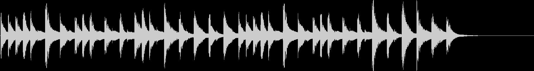 爽やかなマリンバのジングルの未再生の波形