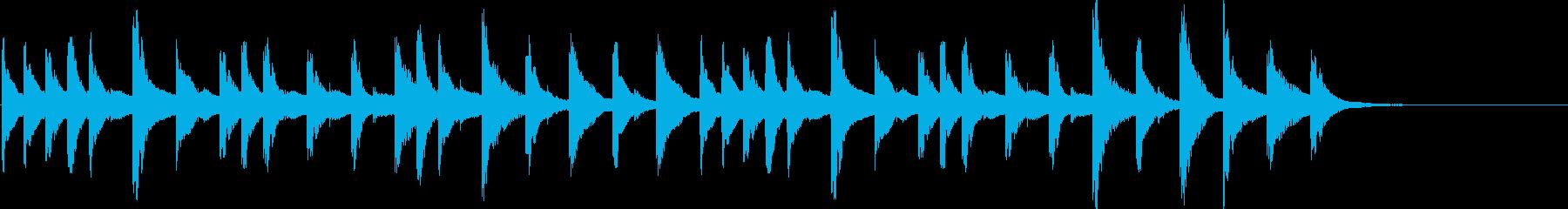 爽やかなマリンバのジングルの再生済みの波形