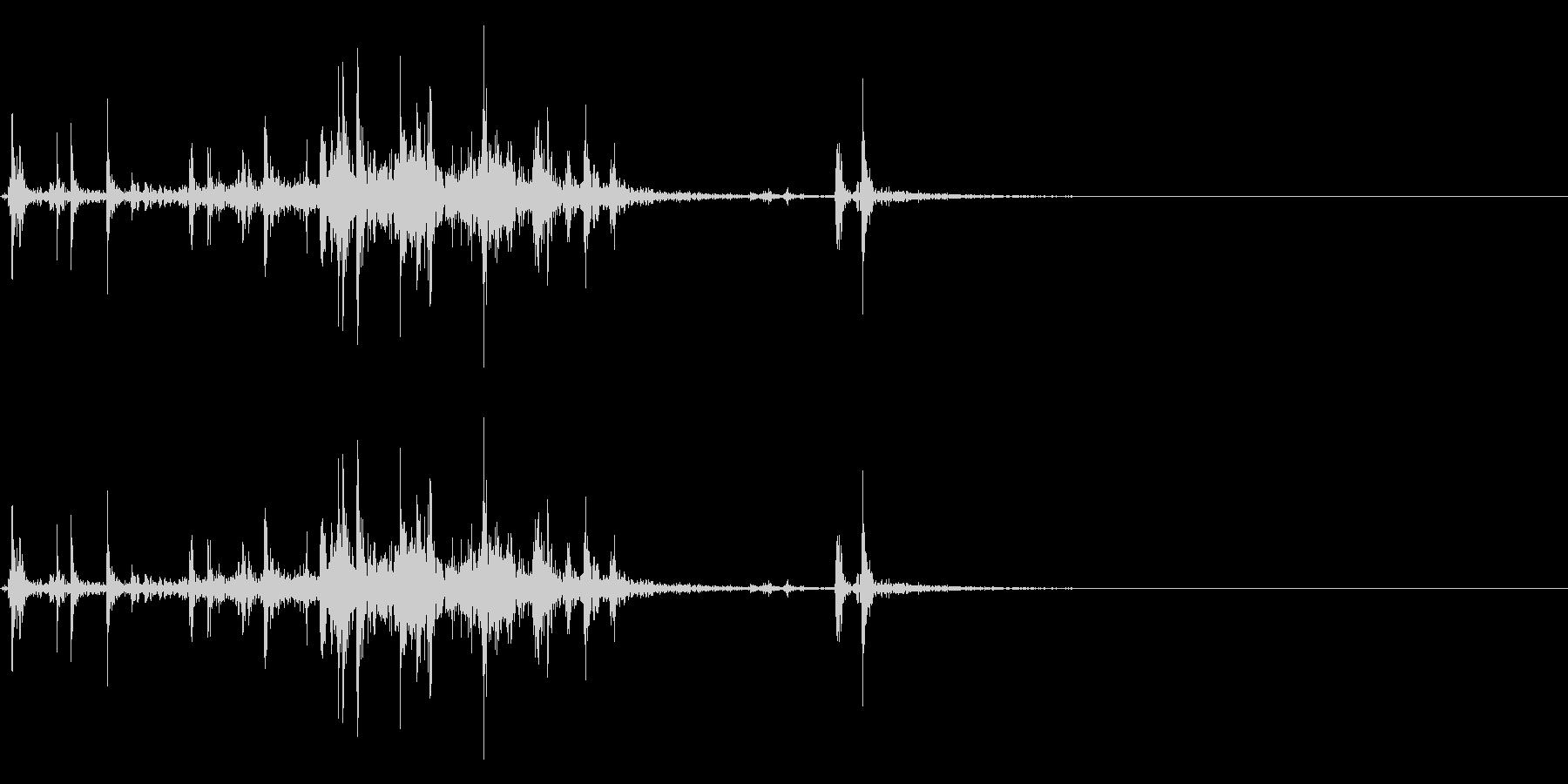 【生録音】ルービックキューブの操作音 5の未再生の波形