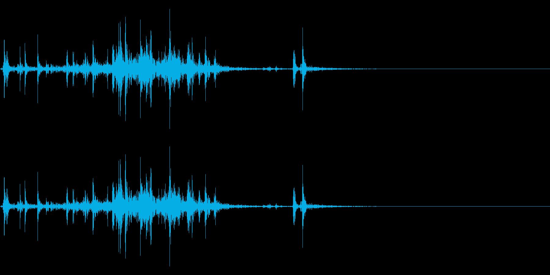 【生録音】ルービックキューブの操作音 5の再生済みの波形