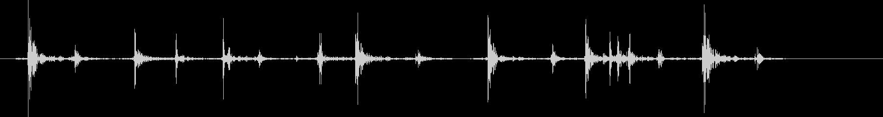 チャチャ..。PCタイピング音(低)の未再生の波形