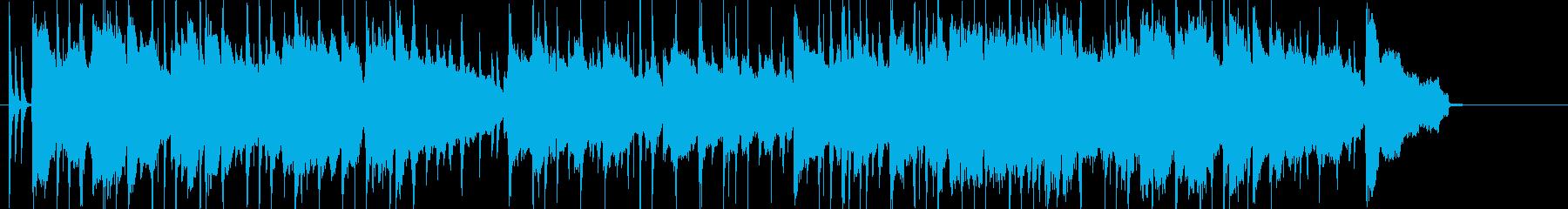 ゆったりと思い出に浸るBGMの再生済みの波形