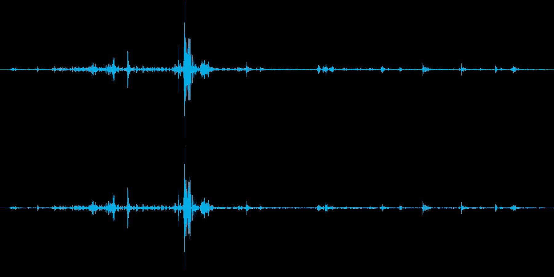 Fish 魚がピチャッと跳ねる音 1の再生済みの波形