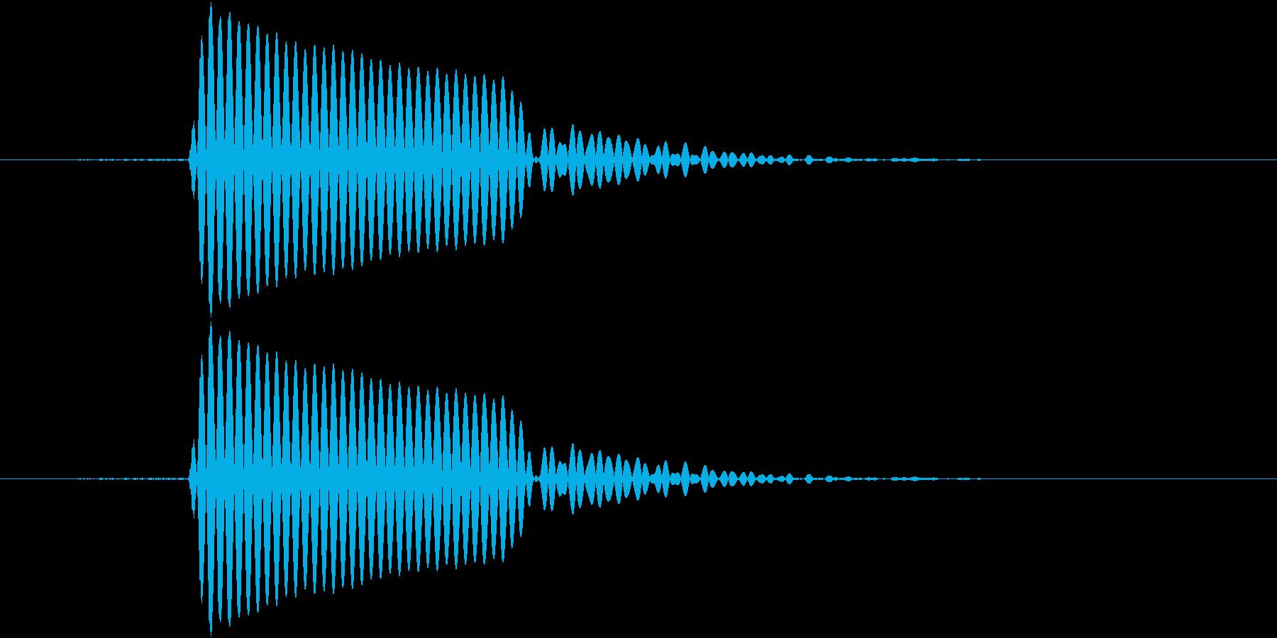 ポ(筒をたたいた音)の再生済みの波形