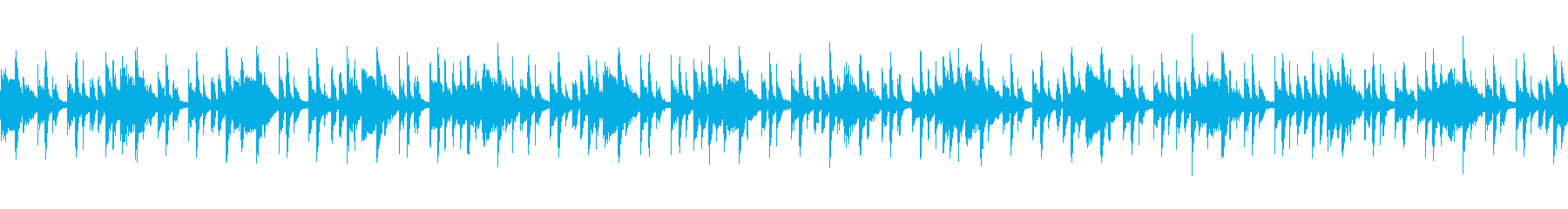 ドラムとウッドベースとギターのジャズの再生済みの波形