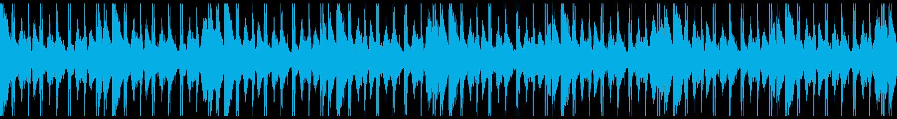 Loop ピアノとウッドベースのLoFiの再生済みの波形