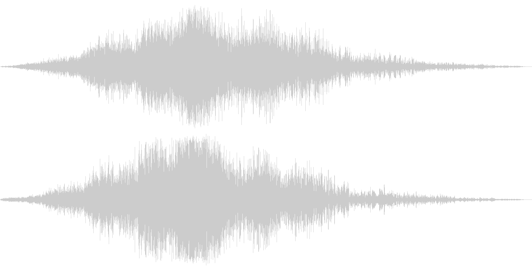 迫力のタイトルロゴ(映画・トレーラー)5の未再生の波形