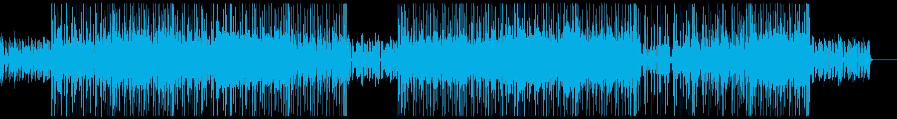 ノリの良いクールなブレイクビーツの再生済みの波形