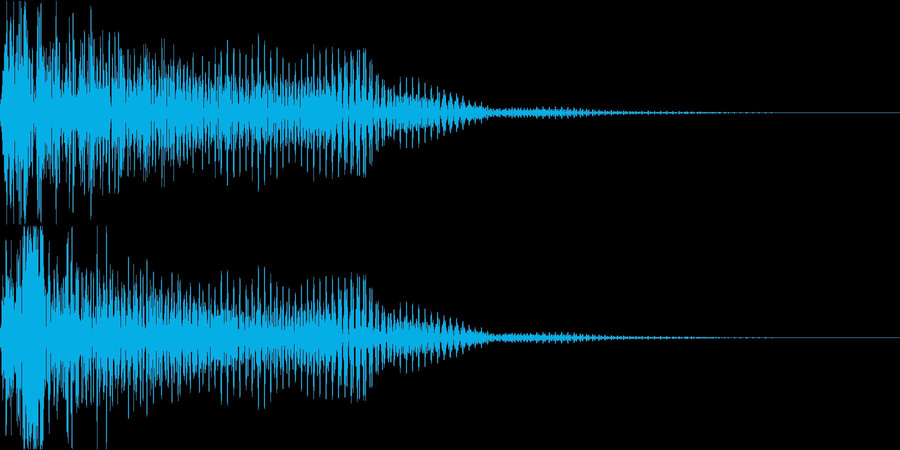不吉なアタック音の再生済みの波形