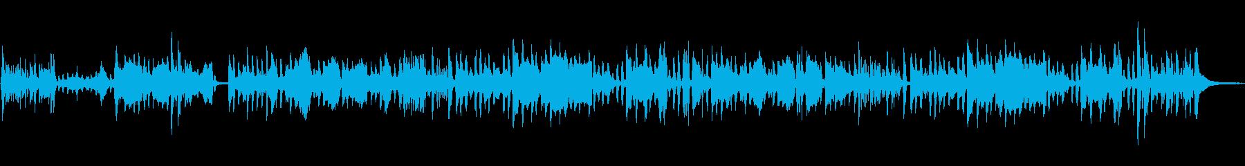 昭和・明治の蓄音機から流れるレトロジャズの再生済みの波形