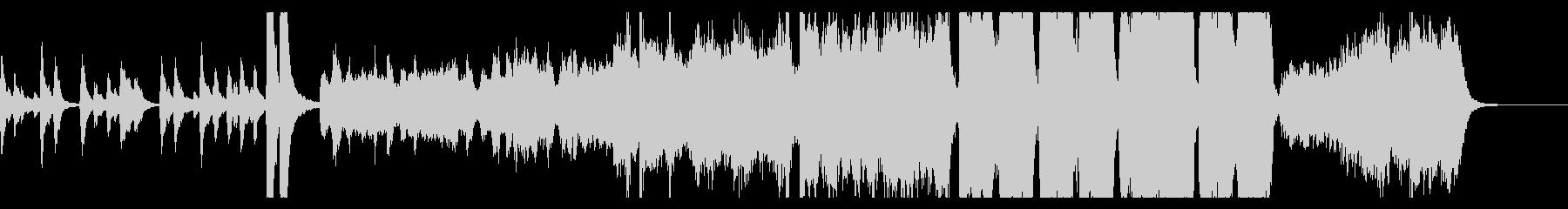 ハロウィン幽霊屋敷イメージのオケ曲の未再生の波形