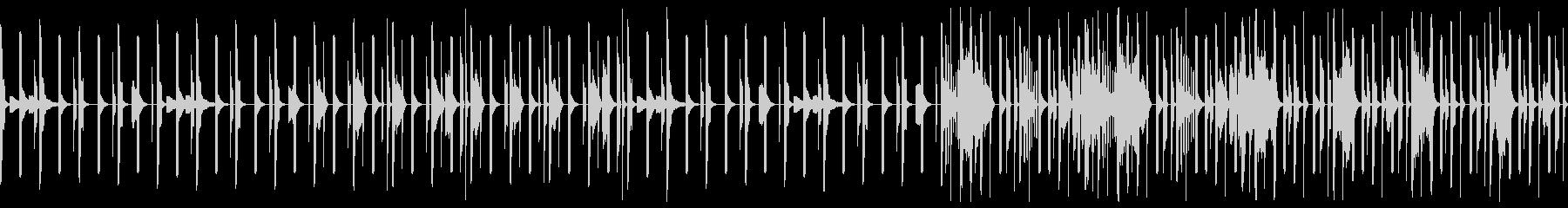夜をイメージしたテクノ ループの未再生の波形