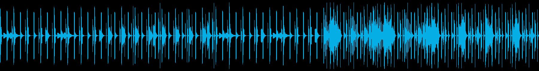 夜をイメージしたテクノ ループの再生済みの波形