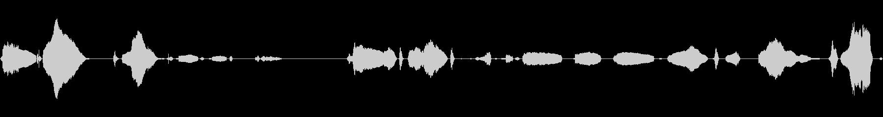あかちゃん(生後0日)の泣き声1の未再生の波形