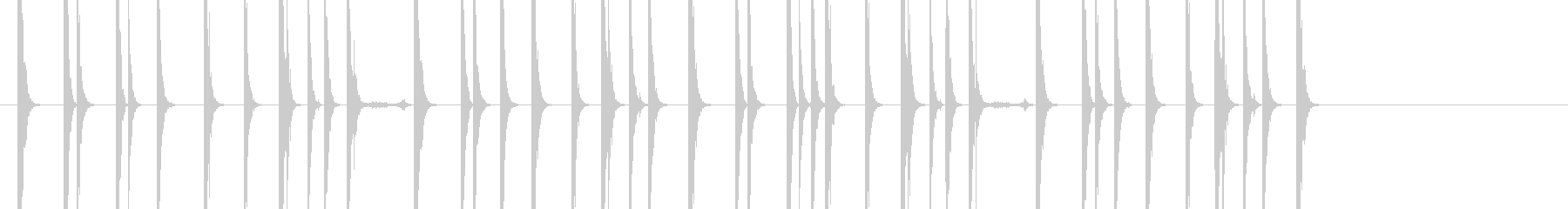木製剣ファイティングルーチンの未再生の波形
