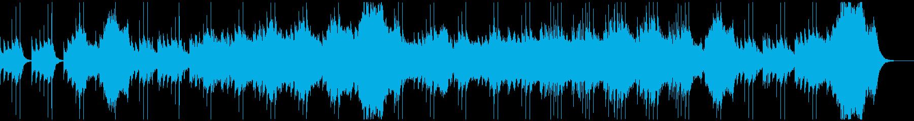 不気味に歪んだレトロな電子音のホラーの再生済みの波形