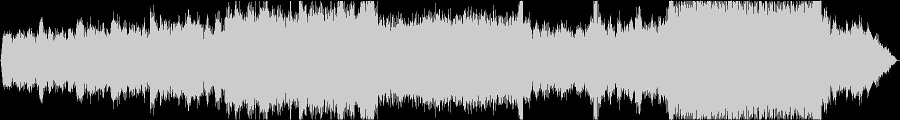 シンセによるテクスチャー系楽曲の未再生の波形