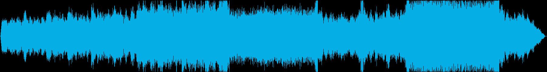 シンセによるテクスチャー系楽曲の再生済みの波形
