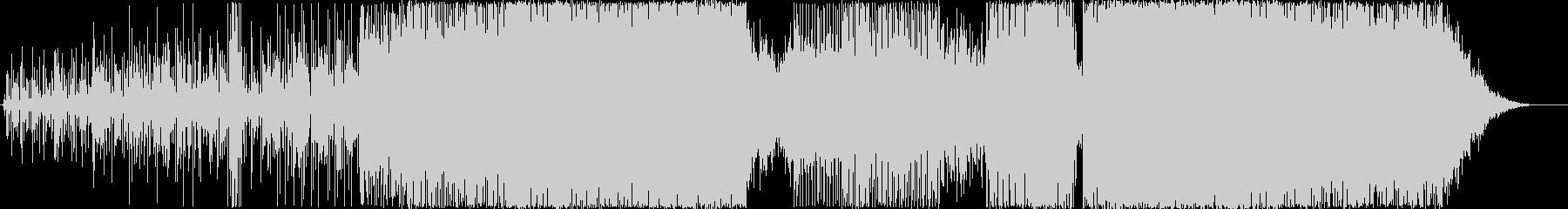 エレクトロハウス。クレッシェンドと...の未再生の波形